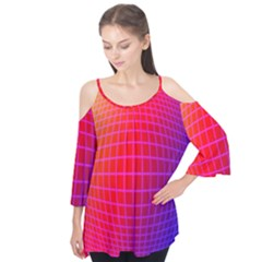 Grid Diamonds Figure Abstract Flutter Tees