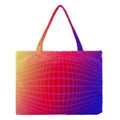 Grid Diamonds Figure Abstract Medium Tote Bag