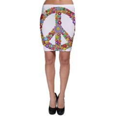 Groovy Flower Clip Art Bodycon Skirt