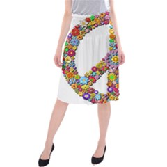 Groovy Flower Clip Art Midi Beach Skirt