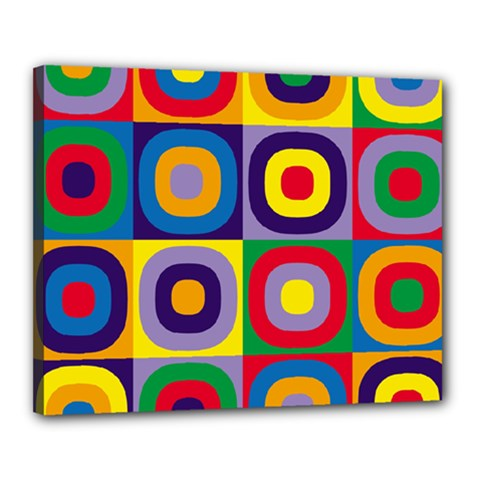 Kandinsky Circles Canvas 20  x 16