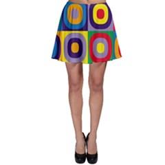 Kandinsky Circles Skater Skirt