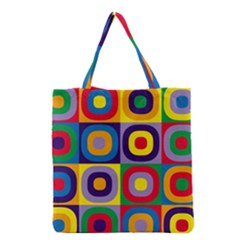 Kandinsky Circles Grocery Tote Bag