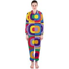 Kandinsky Circles Hooded Jumpsuit (Ladies)