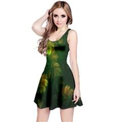 Light Fractal Plants Reversible Sleeveless Dress