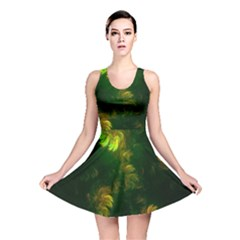 Light Fractal Plants Reversible Skater Dress