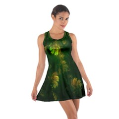 Light Fractal Plants Cotton Racerback Dress