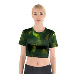 Light Fractal Plants Cotton Crop Top
