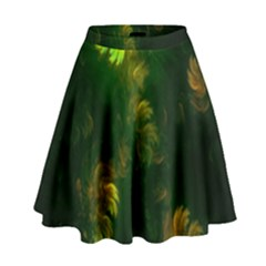 Light Fractal Plants High Waist Skirt
