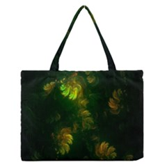 Light Fractal Plants Medium Zipper Tote Bag