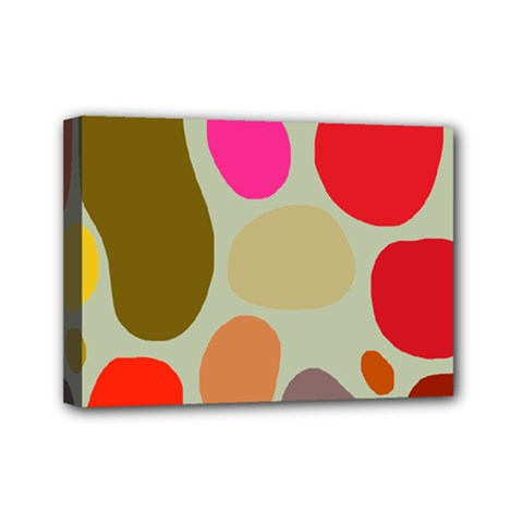 Pattern Design Abstract Shapes Mini Canvas 7  x 5