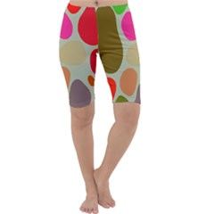 Pattern Design Abstract Shapes Cropped Leggings