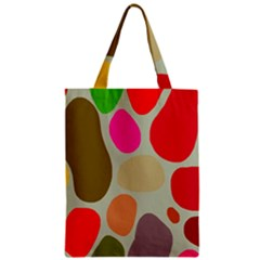Pattern Design Abstract Shapes Zipper Classic Tote Bag