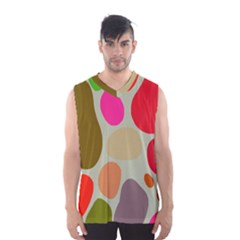 Pattern Design Abstract Shapes Men s Basketball Tank Top