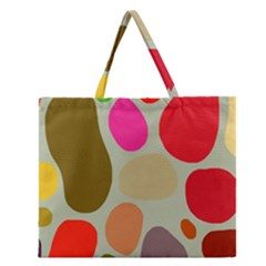 Pattern Design Abstract Shapes Zipper Large Tote Bag