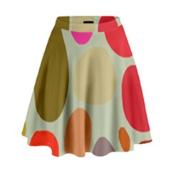 Pattern Design Abstract Shapes High Waist Skirt