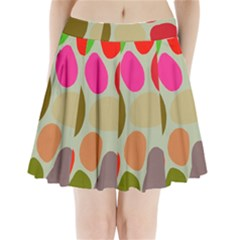 Pattern Design Abstract Shapes Pleated Mini Skirt