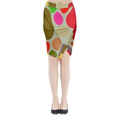 Pattern Design Abstract Shapes Midi Wrap Pencil Skirt
