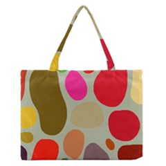 Pattern Design Abstract Shapes Medium Zipper Tote Bag