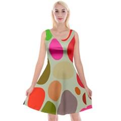 Pattern Design Abstract Shapes Reversible Velvet Sleeveless Dress