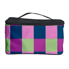 Pink Teal Lime Orchid Pattern Cosmetic Storage Case