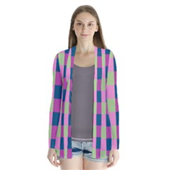Pink Teal Lime Orchid Pattern Cardigans