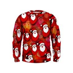 Seamless Santa Tile Kids  Sweatshirt
