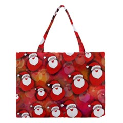 Seamless Santa Tile Medium Tote Bag