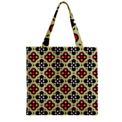 Seamless Tileable Pattern Design Zipper Grocery Tote Bag