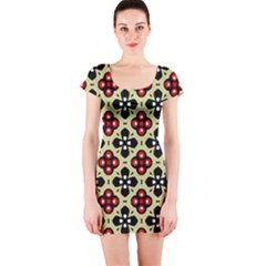 Seamless Tileable Pattern Design Short Sleeve Bodycon Dress