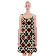 Seamless Tileable Pattern Design Spaghetti Strap Velvet Dress