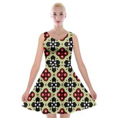 Seamless Tileable Pattern Design Velvet Skater Dress