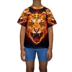 Tiger Kids  Short Sleeve Swimwear