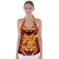Tiger Babydoll Tankini Top