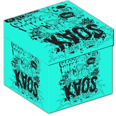 Typography Illustration Chaos Storage Stool 12