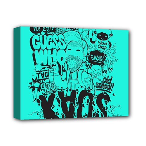 Typography Illustration Chaos Deluxe Canvas 14  x 11
