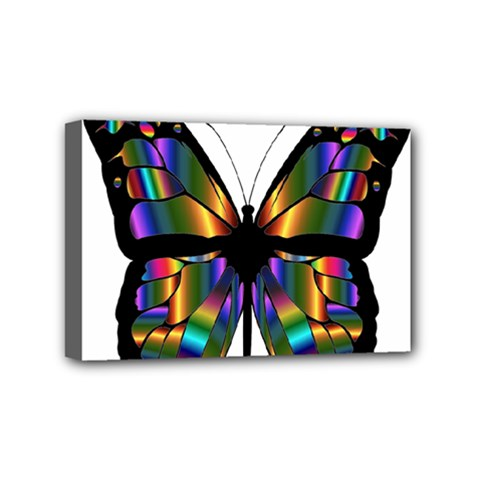 Abstract Animal Art Butterfly Mini Canvas 6  x 4