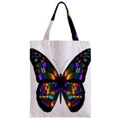 Abstract Animal Art Butterfly Zipper Classic Tote Bag