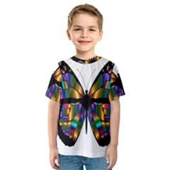 Abstract Animal Art Butterfly Kids  Sport Mesh Tee