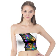 Abstract Animal Art Butterfly Tube Top