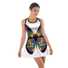 Abstract Animal Art Butterfly Cotton Racerback Dress