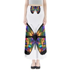 Abstract Animal Art Butterfly Maxi Skirts