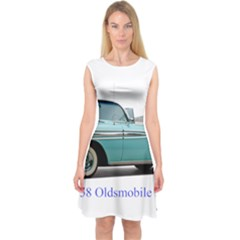 1958 Oldsmobile Super 88 J2 2a Capsleeve Midi Dress
