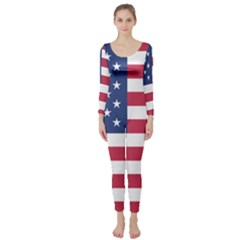 American Flag Long Sleeve Catsuit