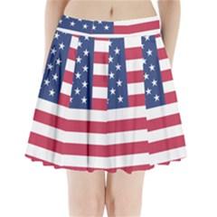 American Flag Pleated Mini Skirt