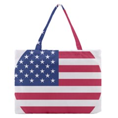 American Flag Medium Zipper Tote Bag