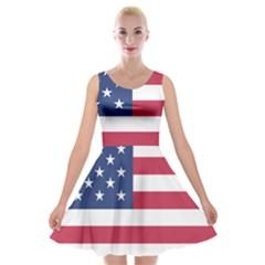 American Flag Velvet Skater Dress