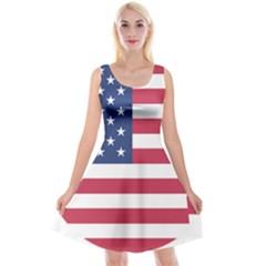 American Flag Reversible Velvet Sleeveless Dress