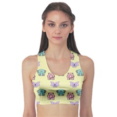 Animals Pastel Children Colorful Sports Bra