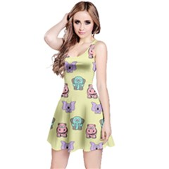 Animals Pastel Children Colorful Reversible Sleeveless Dress